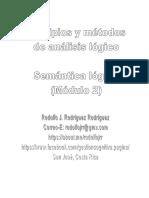 Rodolfo J. Rodríguez-R. Análisis Lógico. Modulo 2. Semántica Lógica