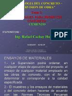 1.- CEMENTO PARA EL CONCRETO - ING. CACHAY - SUPERVISION - ECOE - 16 02 2019.ppt