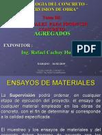 3.- AGREGADOS PARA EL CONCRETO - ING. CACHAY - SUPERVISION - ECOE  - 16 02 2019