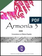 Cuadernillo ARMONIA 3 - Música popular 2020