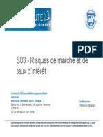 S03 - (NEW FRE) Risques de Marche Et de Taux Dinteret