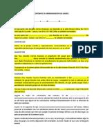 CONTRATO DE ARRENDAMIENTO DE GARAJE
