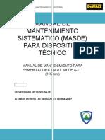 MANUAL DE MANTENIMIENTO SISTEMATICO Ejemplo