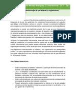 REPORTE ORGANISMOS INTERNACIONALES