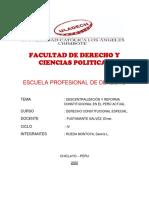 DESCENTRALIZACION Y REFORMA CONSTITUCIONAL - DENNIS RUEDA