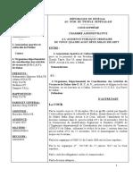 ARRÊT N°53 A.S.C. PINTHIE   C   ODCAV DE DAKAR