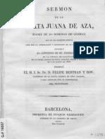 sermón de la Beata Juana de Aza