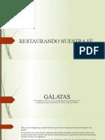 RESTAURANDO EL PUEBLO DE ELOHIM