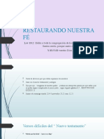 RESTAURANDO NUESTRA FÉ