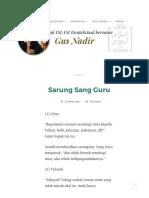 Sarung Sang Guru _ Gus Nadirsyah Hosen