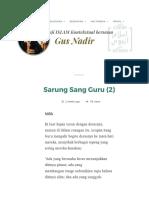 Sarung Sang Guru (2) _ Gus Nadirsyah Hosen