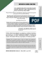 Procedimiento Disciplinario Policial Infracciones Graves y Muy Graves - Autor José María Pacori Cari