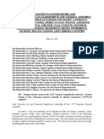 Amended Open Letter to Gov. Lee Legislature