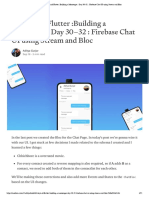 60 Days of Flutter _Building a Messenger _ Day 30–32 _ Firebase Chat UI using Stream and Bloc