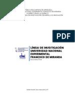 LINEAS DE INVESTIGACIÓN. UNEFM 2017