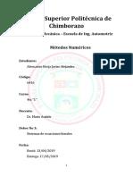 Ejercicios Metodos Numericos - Sistemas de ecuaciones lineales
