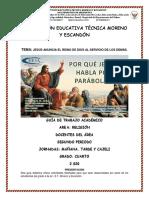 GUÍA ACADEMICA  DE RELIGIÓN GRADO 4 PERIODO 2