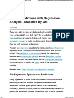 Making Predictions with Regression Analysis - Statistical Analysis