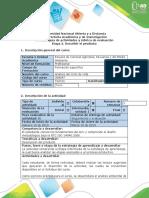 Guía de actividades y rúbrica de evaluación - Etapa 2 - Describir el producto