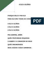 A ELE A GLÓRIA (PORQUE DELE E POR ELE...).doc