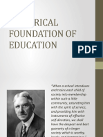 2. Historical Foundation of Education