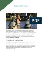 Todo sobre la historia de los Orishas