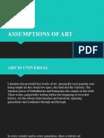 2. Assumptions of Art