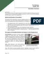 McGuire Demolition Plan Overview