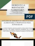 ERRORES EN LA ORIENTACIÓN ALIMENTARIA 2