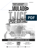Simulado TJ 2 - Pós Edital
