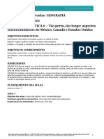 SEQUÊNCIA DIDÁTICA 6 – Tão perto, tão longe_aspectos socioeconômicos do México Canadá e Estados Unidos