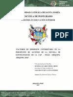 """""""FACTORES DE DESERCIÓN UNIVERSITARIA EN LA"""