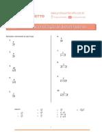 07 - Racionalização de Denominadores - Exercicios
