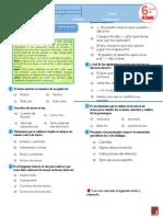 Español Sexto grado 2DA EVALUACION multigrado