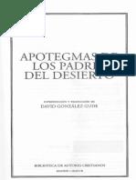 David González Gude (ed.) - APOTEGMAS DE LOS PADRES DEL DESIERTO-B.A.C. (2017).pdf