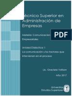 TSAE Unidad Didáctica 1- Comunicaciones Empresariales