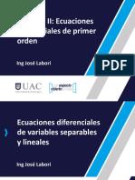 EcuDif U2 C1. ED de variables separables y lineales.pptx