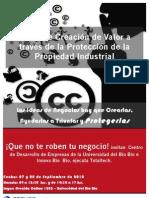 INVITACIÓN TALLER DE PROPIEDAD INDUSTRIAL