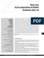 Chemical composition of Nabali Jordanian olive oil