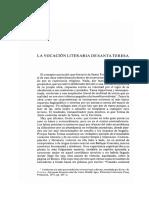 Márquez Villanueva, La vocación literaria de Sta. Teresa