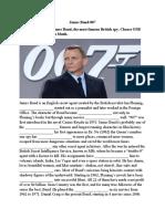 Open Cloze-James Bond 007