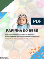 Receitas de PAPINHAS + INTRODUÇÃO ALIMENTAR