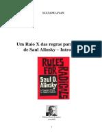 """Análise das """"Regras para radicais"""" de Saul Alinsky"""