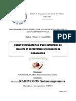 Projet creation d'une unité de collecte et d'exportation d'escargots de Madagascar
