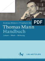 Thomas Mann Handbuch Leben — Werk — Wirkung
