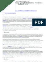 Como quantificar e contabilizar os resíduos industriais - Monografias