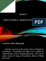MODULE 9 VIRTUE ETHICS ARISTOTLE THOUGHTS.pptx