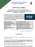 Convocatoria Elecciones Estudiantes c. Academico