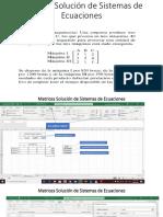 Matrices Solución de Sistemas de Ecuaciones