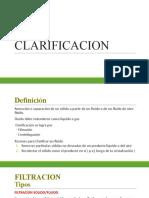 CLARIFICACION
